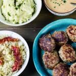 Swojski obiad czyli mielone, ziemniaki i sos