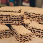 Wafle czekoladowo-orzechowe bez mleka w proszku