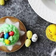 Migdałowe gniazdka Wielkanocne- muffinki