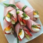 Roladki z szynki czyli wielkanocne rollsy