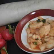 Kim chi z bialej rzepy