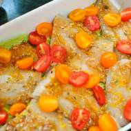 Pieczony sandacz zwarzywami – obiad w30 minut
