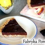Tarta z kremem czekoladowym/ Fit mazurek czekoladowy