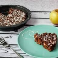 Wegańskie ciasto czekoladowe z jabłkami