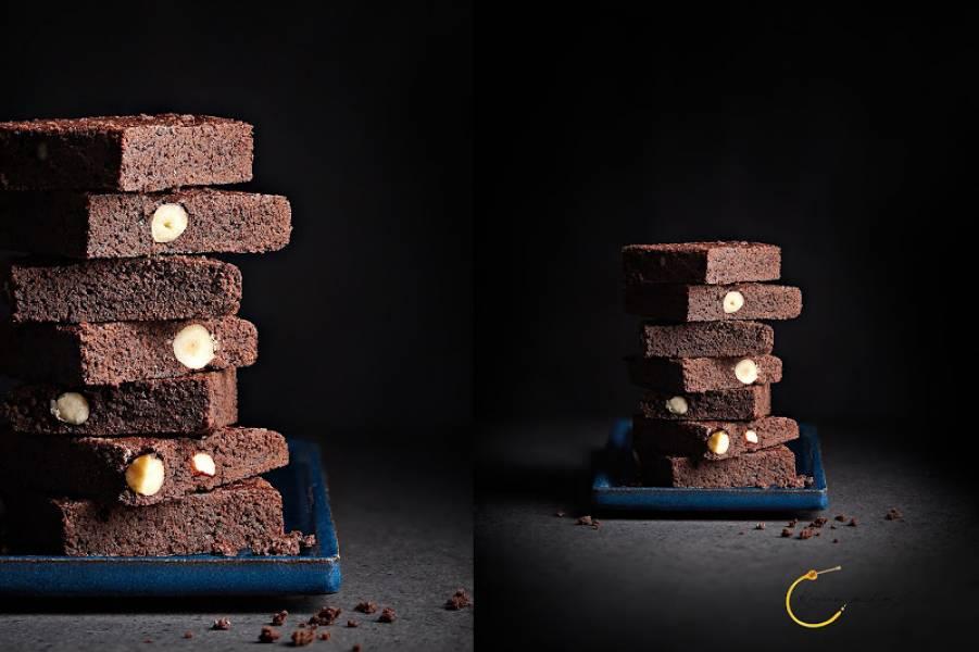 Brownie z kakao i orzechami