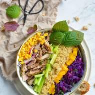 Sałatka z komosą ryżową do pracy lub lunch/ FIT PRZEPISY