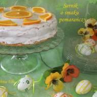 Sernik o smaku pomarańczy