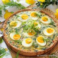Wiosenna tarta ze szpinakiem i jajkami