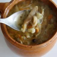 Zupa z boczniaków - flaczki wegetariańskie