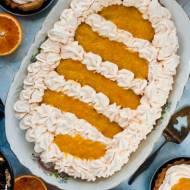 Mazurek pomarańczowy z mąki orkiszowej