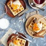 Bezglutenowe gofry + recenzja aplikacji Dziennik Kalorii