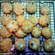 Ciastka z kokosem i czekoladą (bez glutenu, nabiału i cukru)