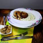 Polędwiczka wieprzowa w glazurze balsamicznej i pure z topinamburu