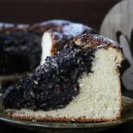 Świąteczne ciasto drożdżowe z masą makowo bakaliową na mleczku kokosowym