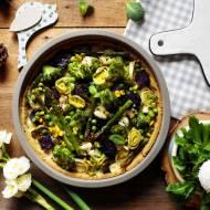 Wiosenna krucha tarta z warzywami i owczym serem (bez glutenu)