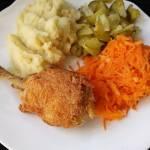 Kurczak z rosołu panierowany