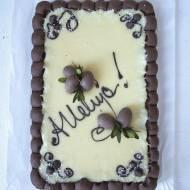 Mazurek kakaowo- kokosowy