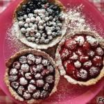 Pełnoziarniste tarty z owocami (dietetyczne)