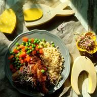 Quinoa, groszek z marchewką i wielkanocny królik jak u taty