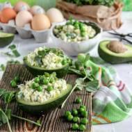 Sałatka z jajek i awokado z sosem chrzanowo- majonezowym