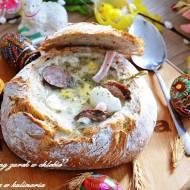 ,,Wielkanocny żurek w chlebie''