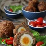 Jaskółcze gniazda, czyli jajka po szkocku