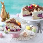 Kolorowy tort naleśnikowy