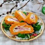 Rolada marchewkowa z serkiem i kiełbasą