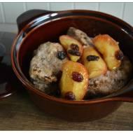Świąteczne kąski z Indyka z karmelizowanymi jabłkami i rodzynkami