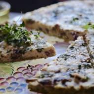 Tarta grzybowa z serem feta i parmezanem