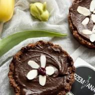 Mazurki orzechowo-czekoladowe z żurawiną