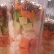 zdrowe  sniadanie,chia,awokado i batat