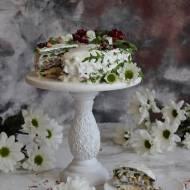Tort śledziowo - szpinakowy