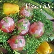 Wielkanocne galaretki  ze schabem w skorupkach jaj