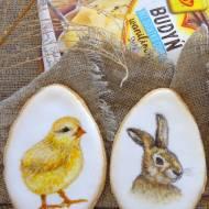 Wielkanocne ciasteczka budyniowe (ręcznie malowane)