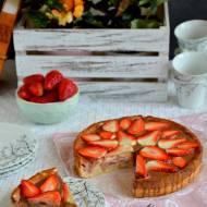 Ciasto serowe z truskawkami