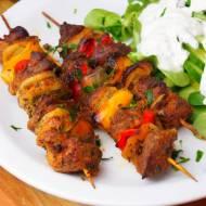 Greckie szaszłyki z wieprzowiny
