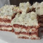 Ciasto Princessa zebra -bez pieczenia