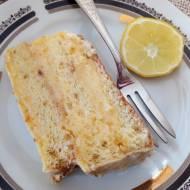 Złoty tort pomarańczowo-cytrynowy
