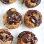 Czekoladowo-orzechowe muffinki bananowe
