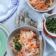 Surówka z białej rzepy i marchewki