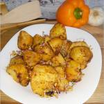 Pieczone czosnkowo-paprykowe ziemniaczki
