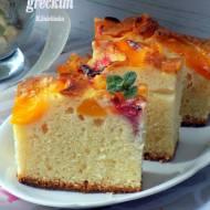 jogurtowe ciasto z owocami (na jogurtach greckich)