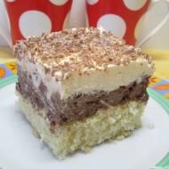 Pyszne ciasto ambasador-z masą orzechowo-czekoladową i cytrynową.