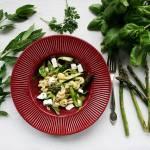 Makaron ze szparagami - zielony bączek