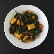 Indyjskie saag tofu