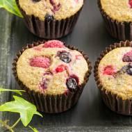 Zdrowe muffiny pełnoziarniste z owocami…