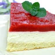 Ciasto z mascarpone i musem truskawkowym z galaretką+ film