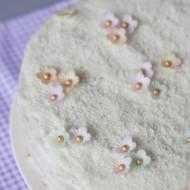 Lekki tort orkiszowy razowy z kremem bez masła i cukru