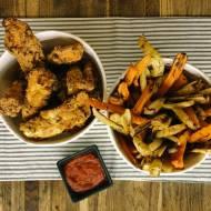 Poniedziałek: Nuggetsy z kurczaka z kolorowymi frytkami